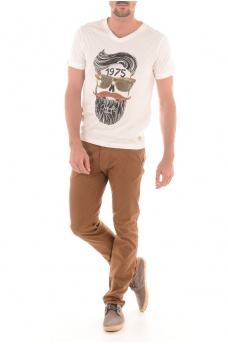 SKUNNY TEE V-NECK - HOMME JACK AND JONES