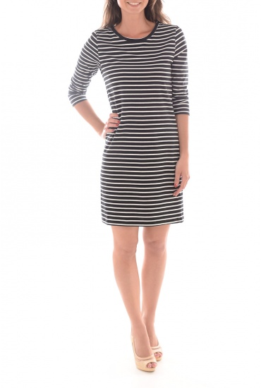 SKY 3/4 STRIPED SHORT DRESS NOOS - FEMME VERO MODA
