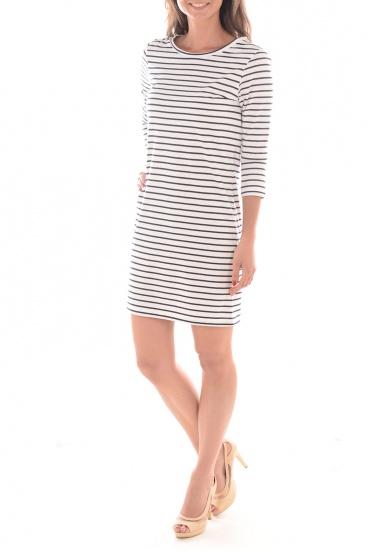 FEMME VERO MODA: SKY 3/4 STRIPED SHORT  DRESS NOOS