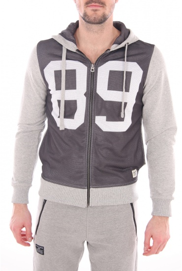 MANHATTAN SWEAT ZIP HOOD - HOMME JACK AND JONES