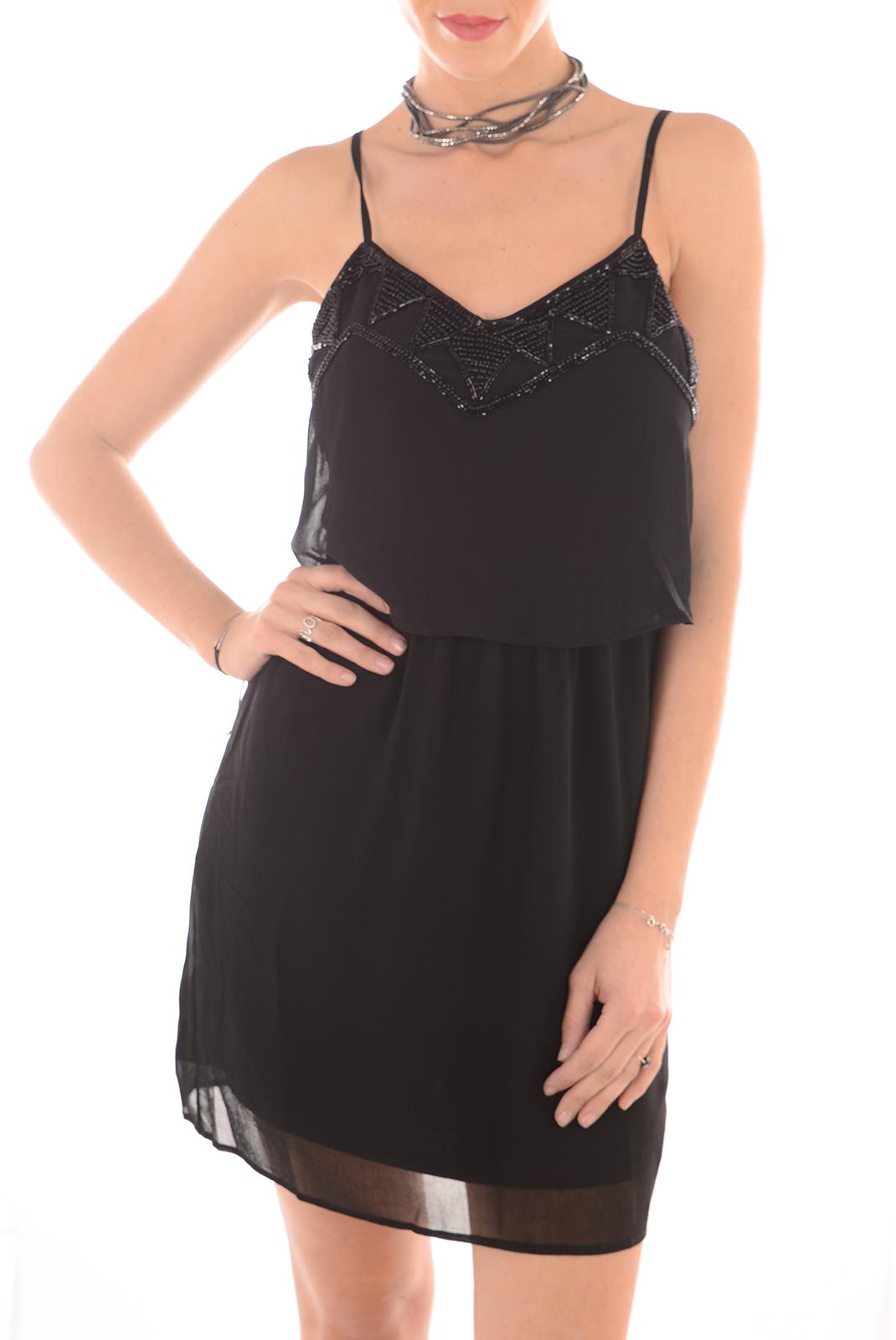 FEMME  Vero moda SOPHIE SL MINI DRESS BLACK