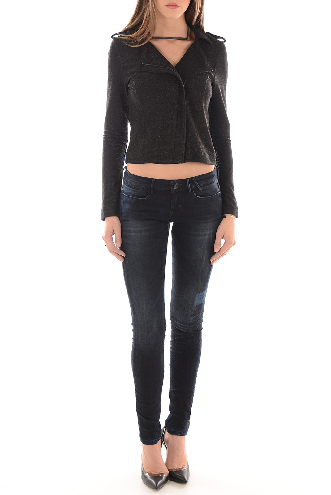Vestes & blousons  Vero moda LOLA LS BIKER JACKET BLACK/BLACK