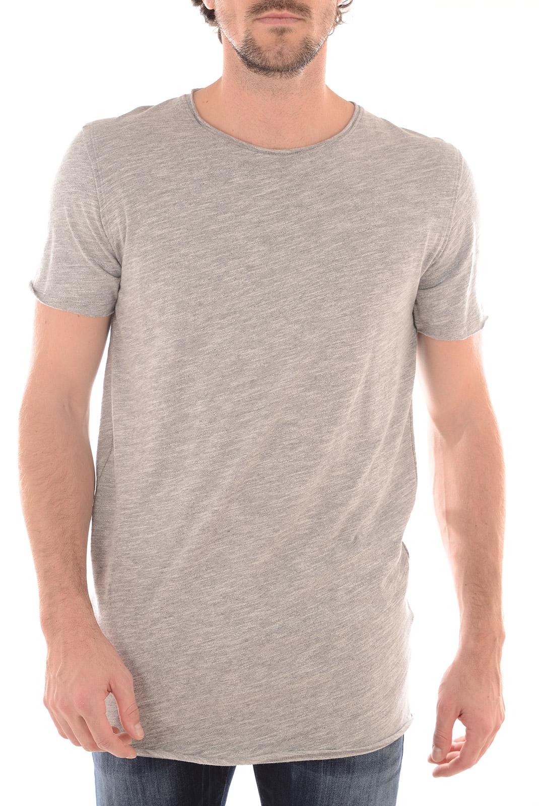 Tee-shirts  Selected LUDVIG LONG SS O NECK MEDIUM GREY MEL