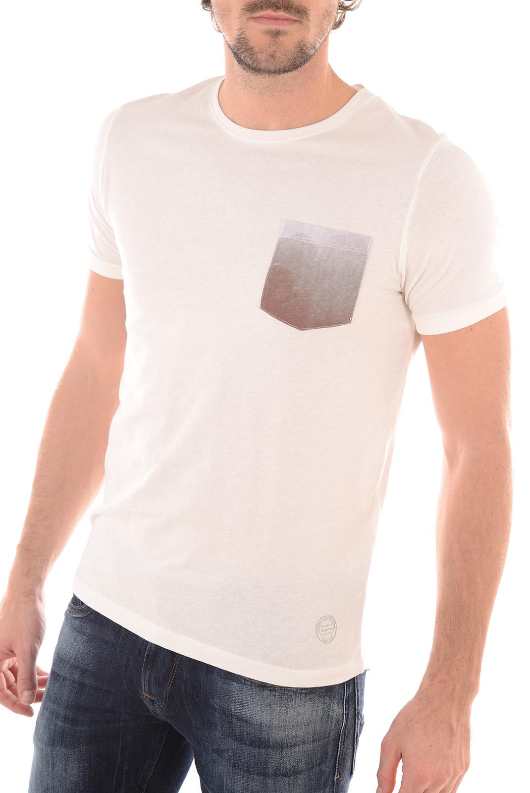Tee-shirts  Jack & Jones POCK TEE SS CREW NECK CLOUD DANCER