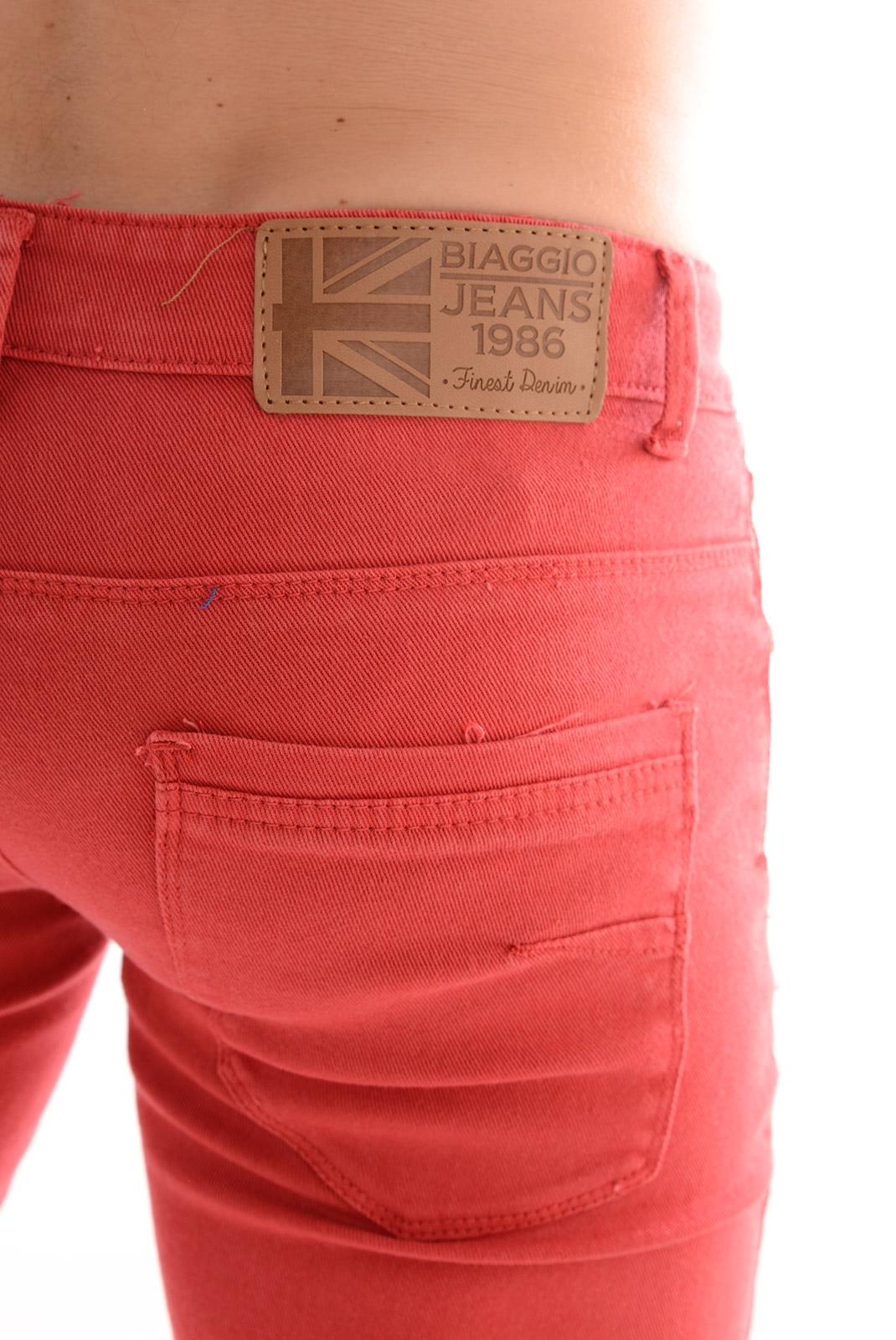 slim / skinny  Biaggio jeans DENTOR ROUGE