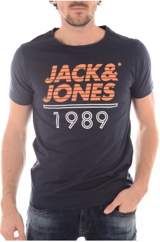 HOMME JACK AND JONES: FLAG TEE SS CREW NECK