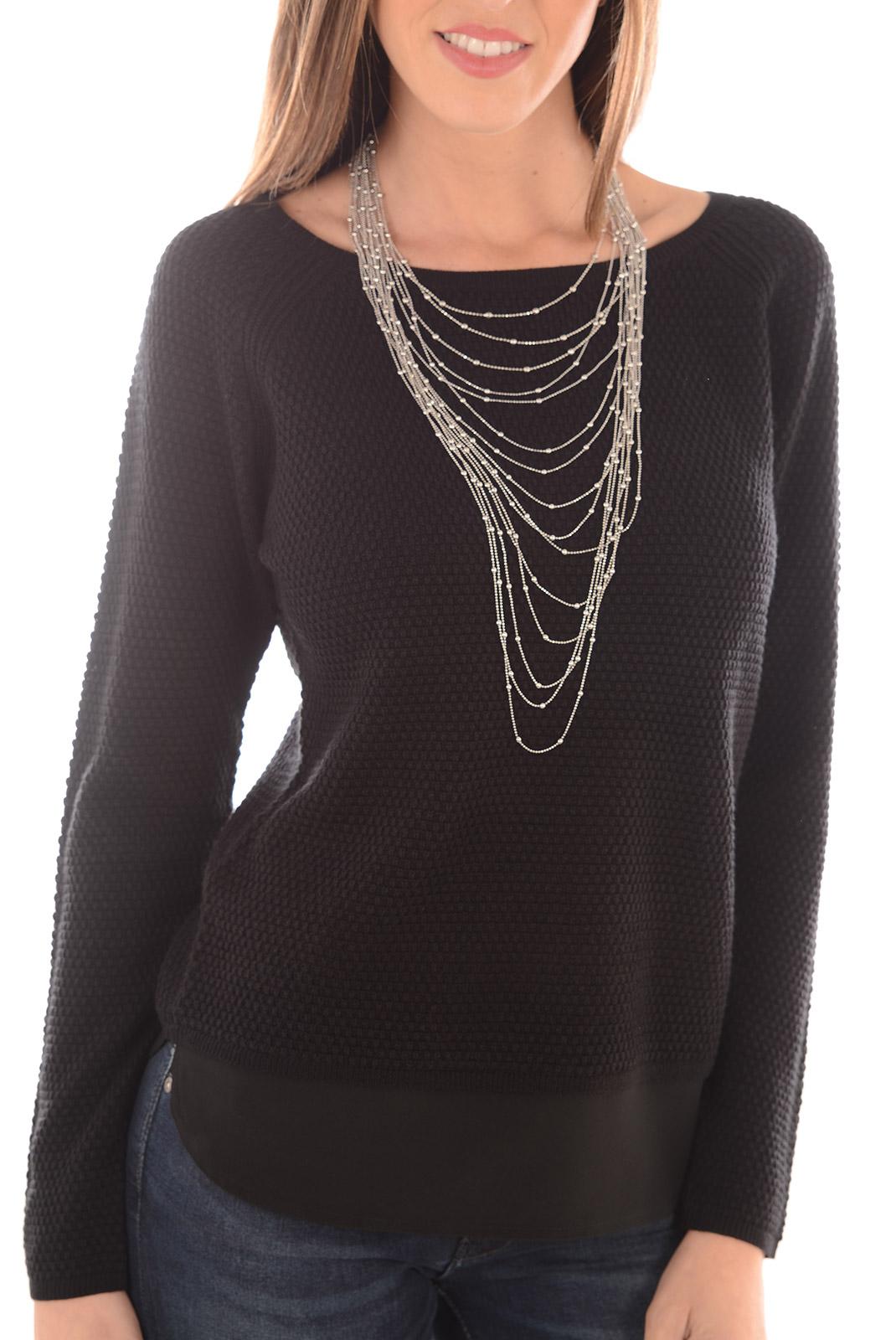 pull femme only violalou l s pullover knt black w black. Black Bedroom Furniture Sets. Home Design Ideas