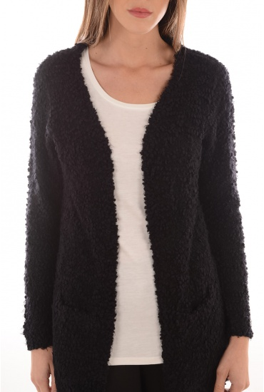POP FEATHER L/S CARDIGAN KNT NOOS - FEMME ONLY