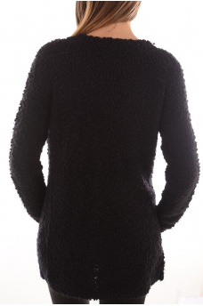 FEMME ONLY: POP FEATHER L/S CARDIGAN KNT NOOS