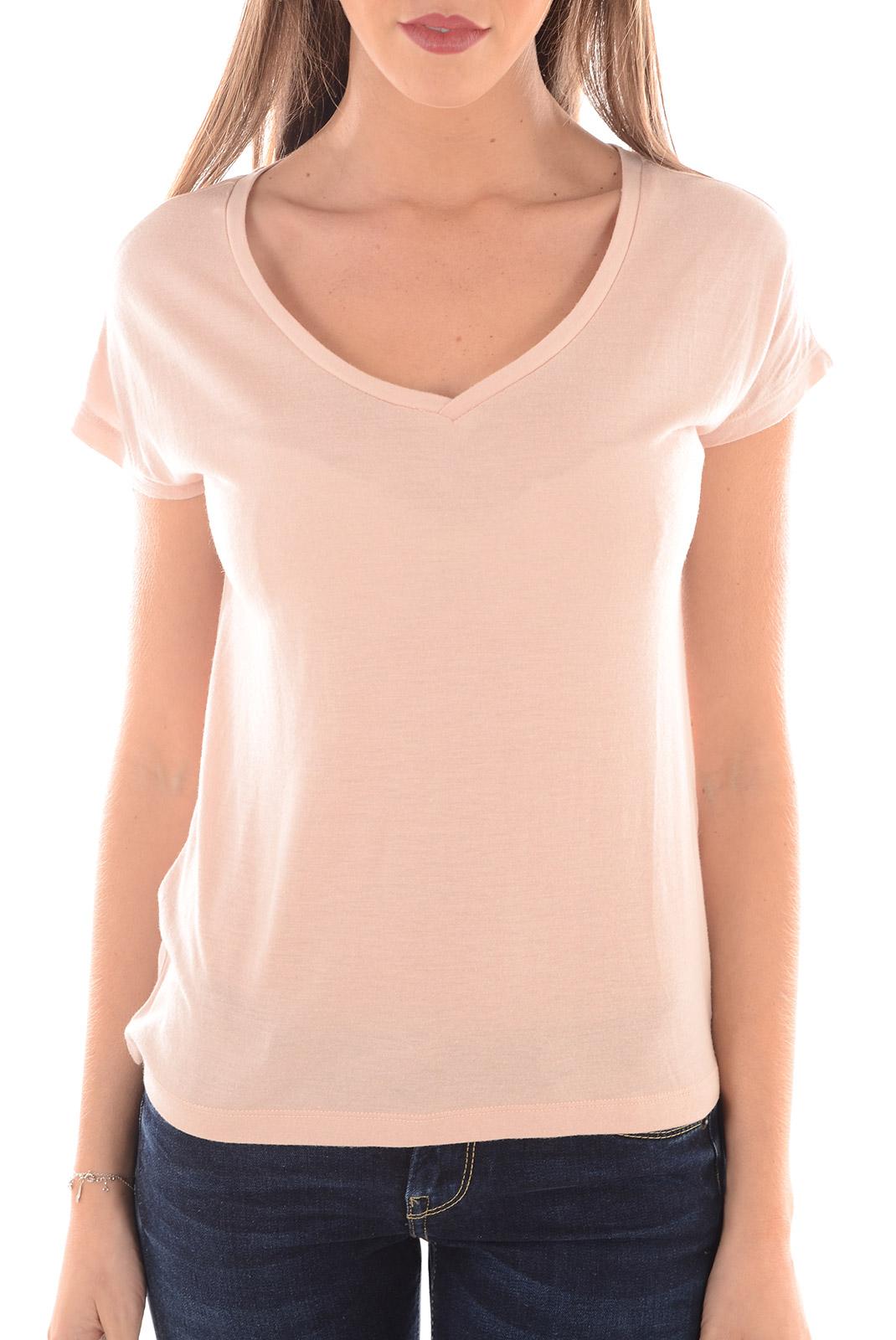 tee shirt femme vero moda nancy ss top dnm rose dust w silver. Black Bedroom Furniture Sets. Home Design Ideas