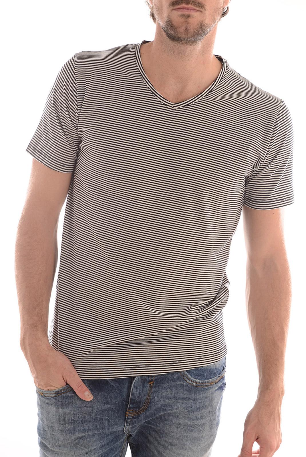 Tee-shirts  Selected PIMA HAY SS V NECK MARSHMALLOW
