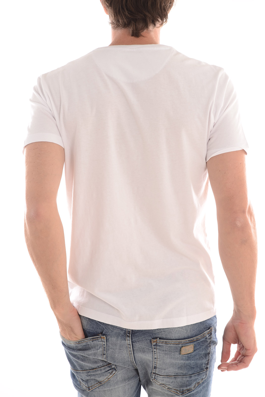 Tee-shirts  Selected SONNY SS O NECK ID BRIGHT WHITE