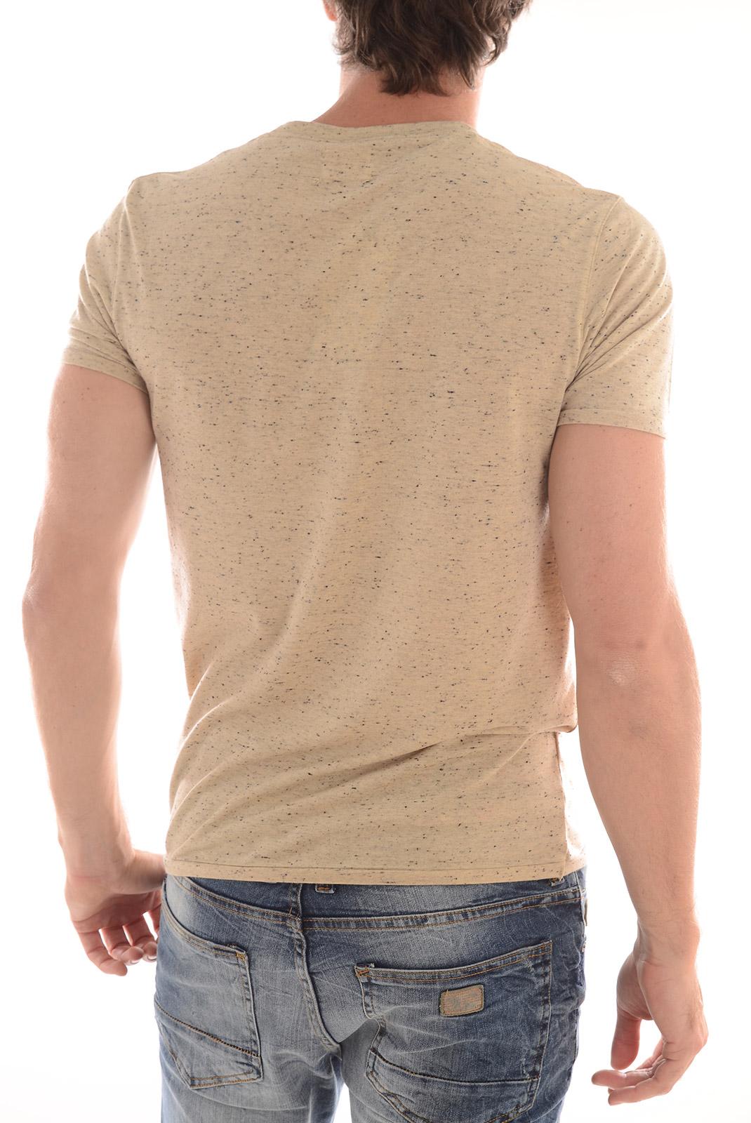 Tee-shirts  Selected SYMBOL SS O NECK LIGHT SAND MELANGE