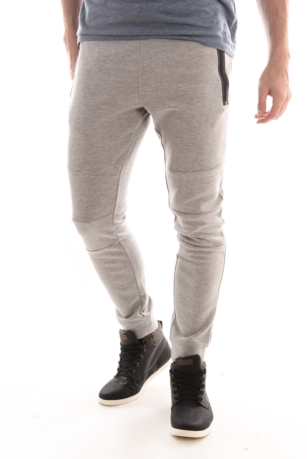 Pantalons  Jack & Jones MORRISON SWEATPANTS TIGHT FIT LIGHT GREY