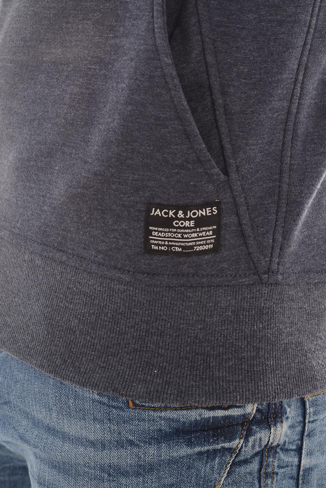 Pulls & Gilets  Jack & Jones CHIL SWEAT ZIP HOOD NAVY BLAZER