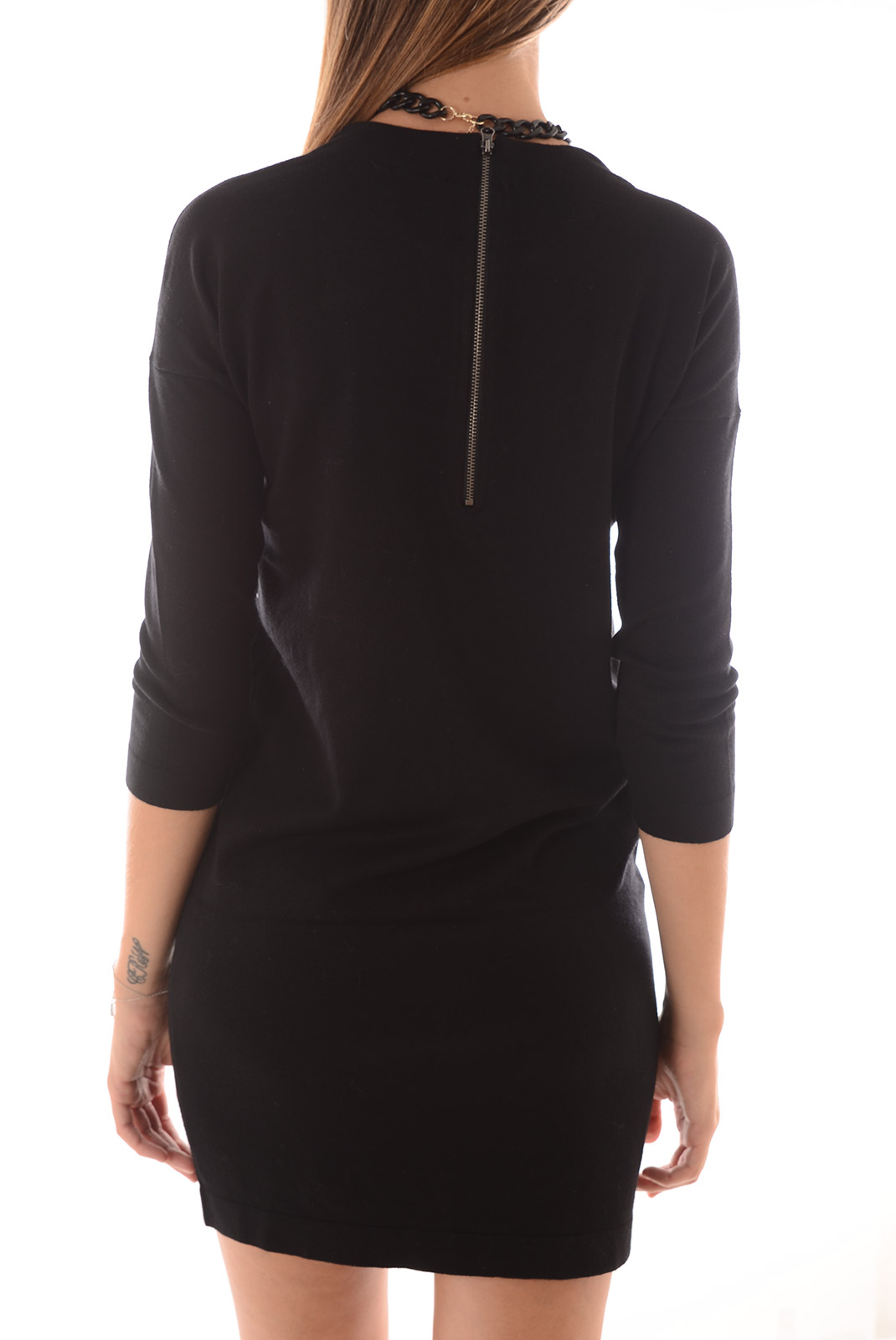 Robes  Vero moda GLORY VIPE AURA 3/4 DRESS NOOS BLACK