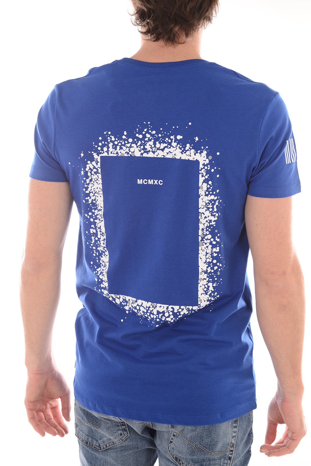 Tee-shirts  Jack & Jones YES TEE SS CREW NECK SURF THE WEB