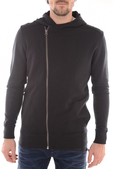 NICO ZIP HOOD SWEAT - HOMME SELECTED