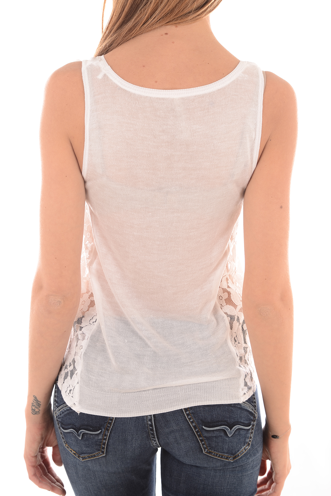 Tops & Tee shirts  Guess jeans W61R48Z0NJ0 A000 BLANC