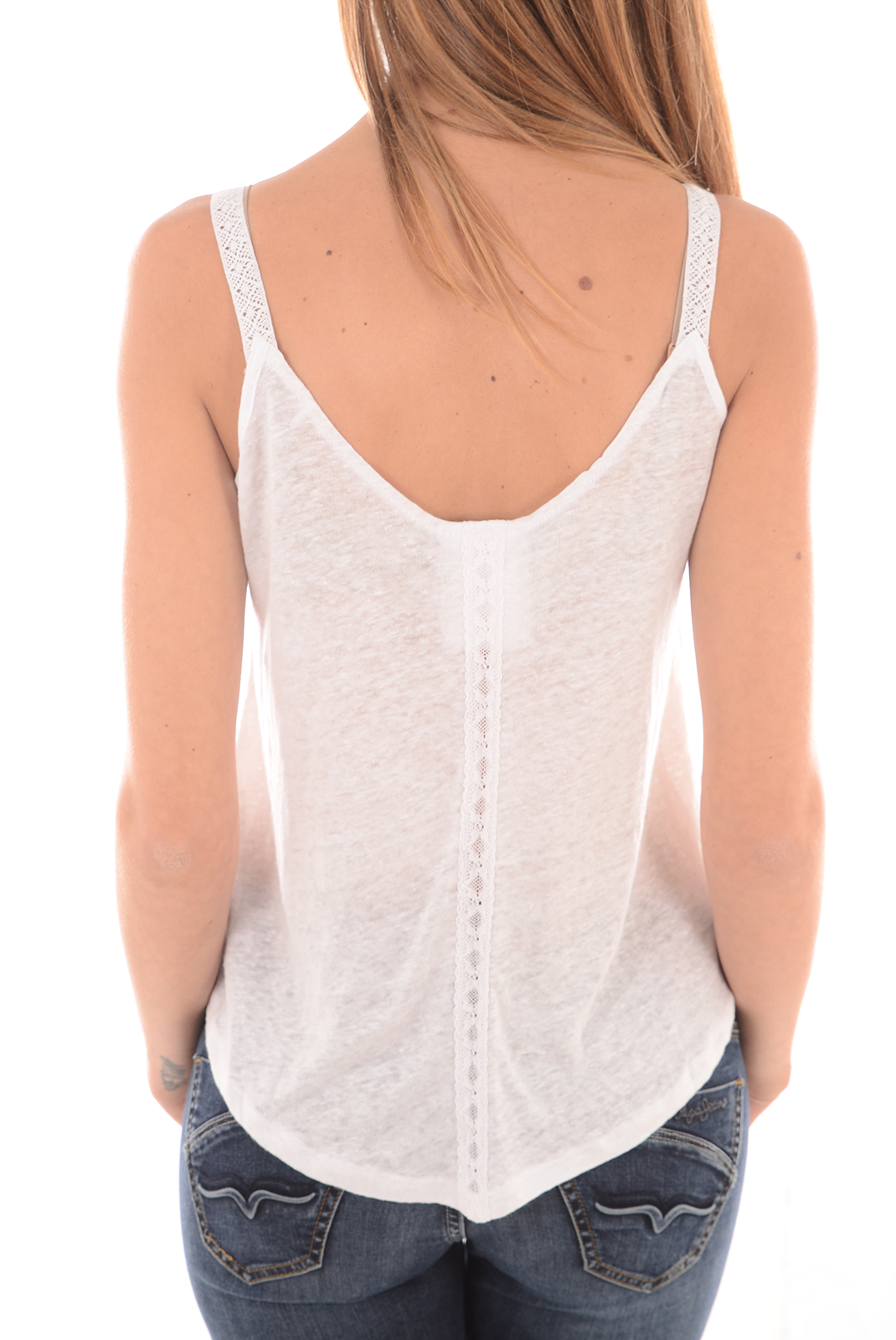 Tops & Tee shirts  Guess jeans W61P41K4EA0 A000 BLANC