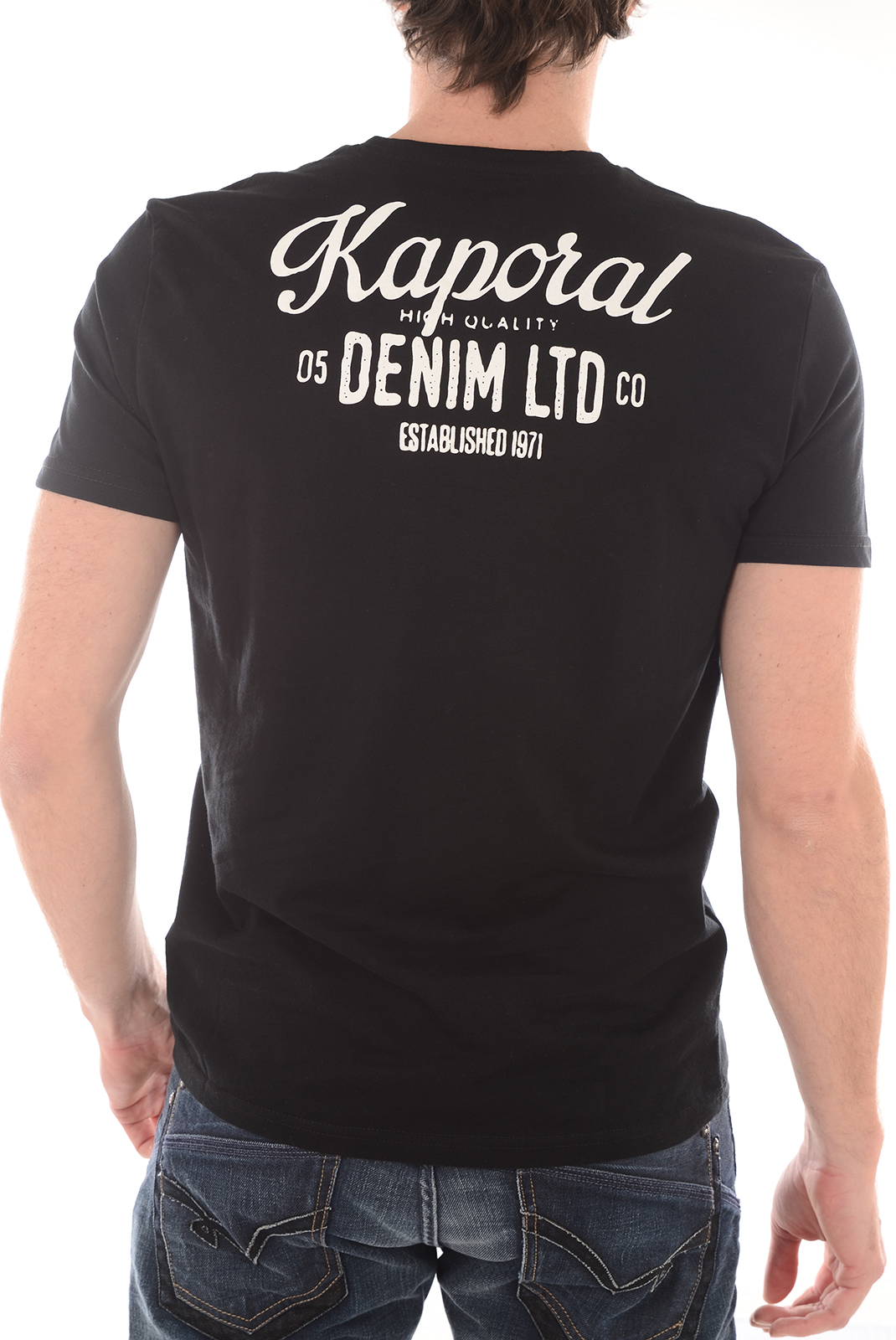 Tee-shirts  Kaporal LORDI BLACK
