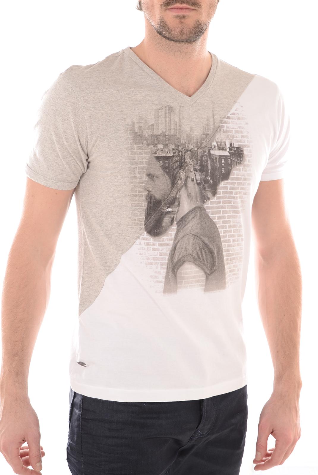 Tee-shirts  Kaporal BARBU WHITE