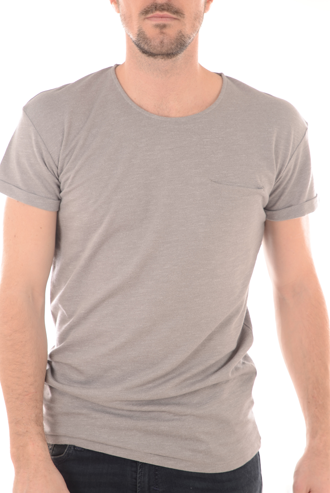 Tee-shirts  Selected BEECH SS TEE LIGHT GREY MELANGE