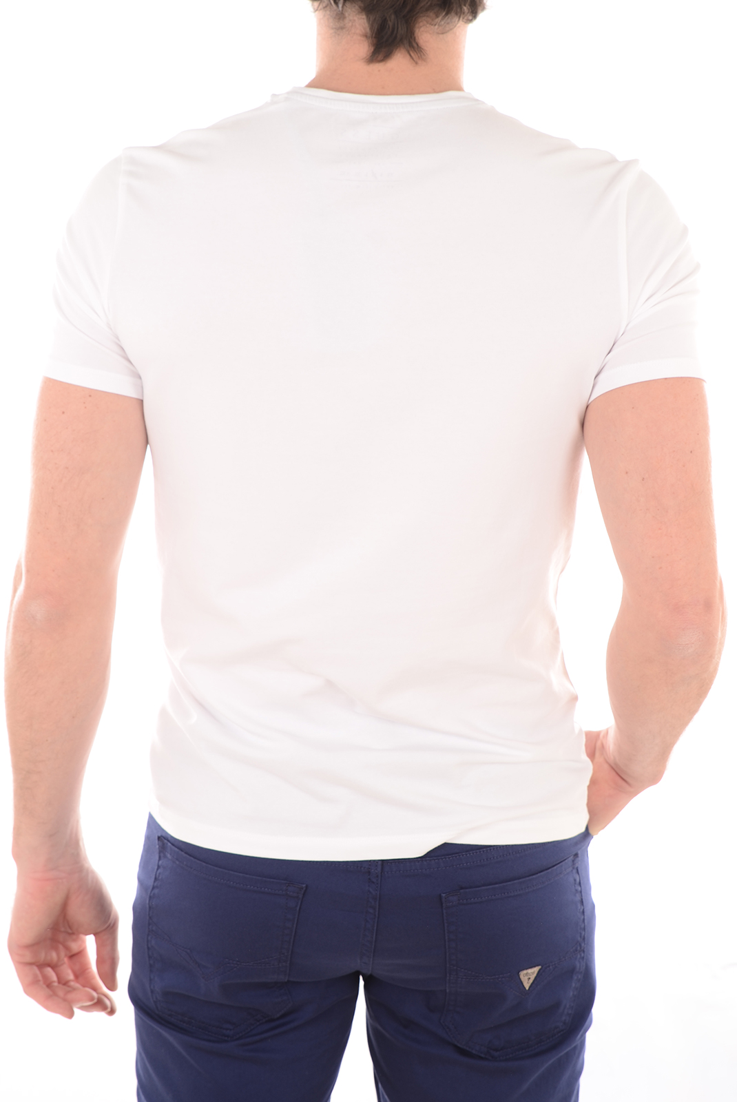 Tee-shirts  Guess jeans M44I01J1300 A009 BLANC