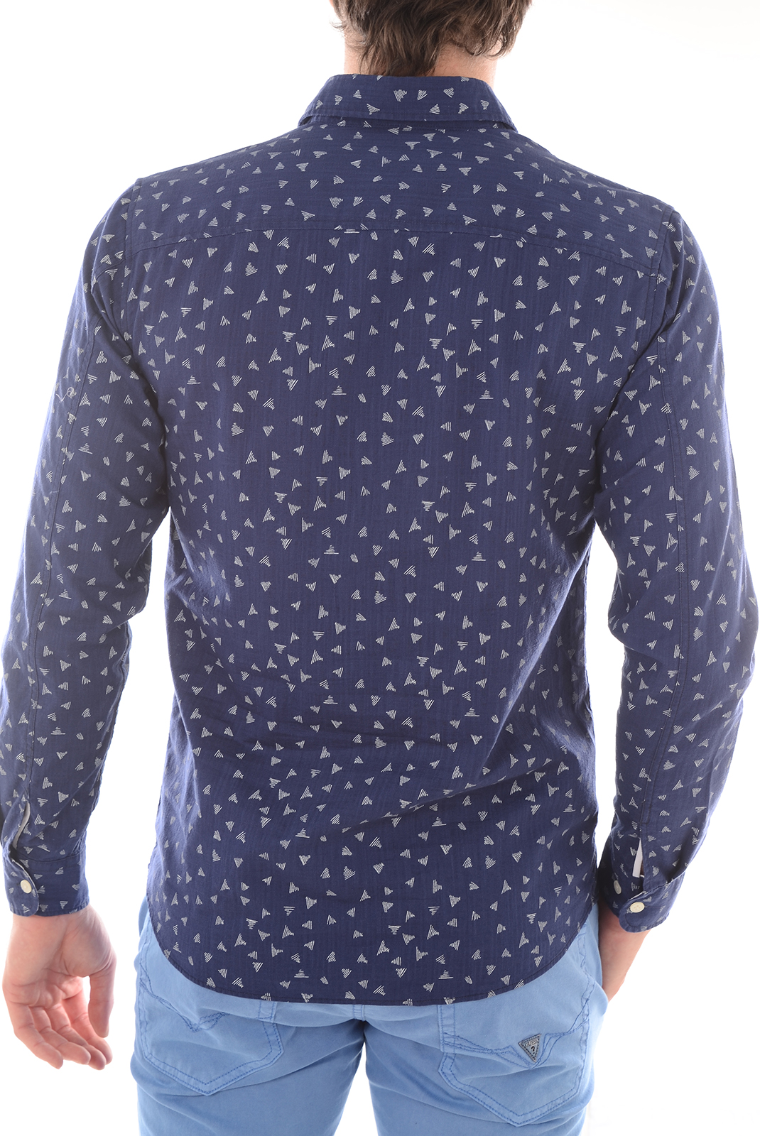Chemises   Selected ONEVIC SHIRT LS MEDIEVAL BLUE/ WHITE TRIA
