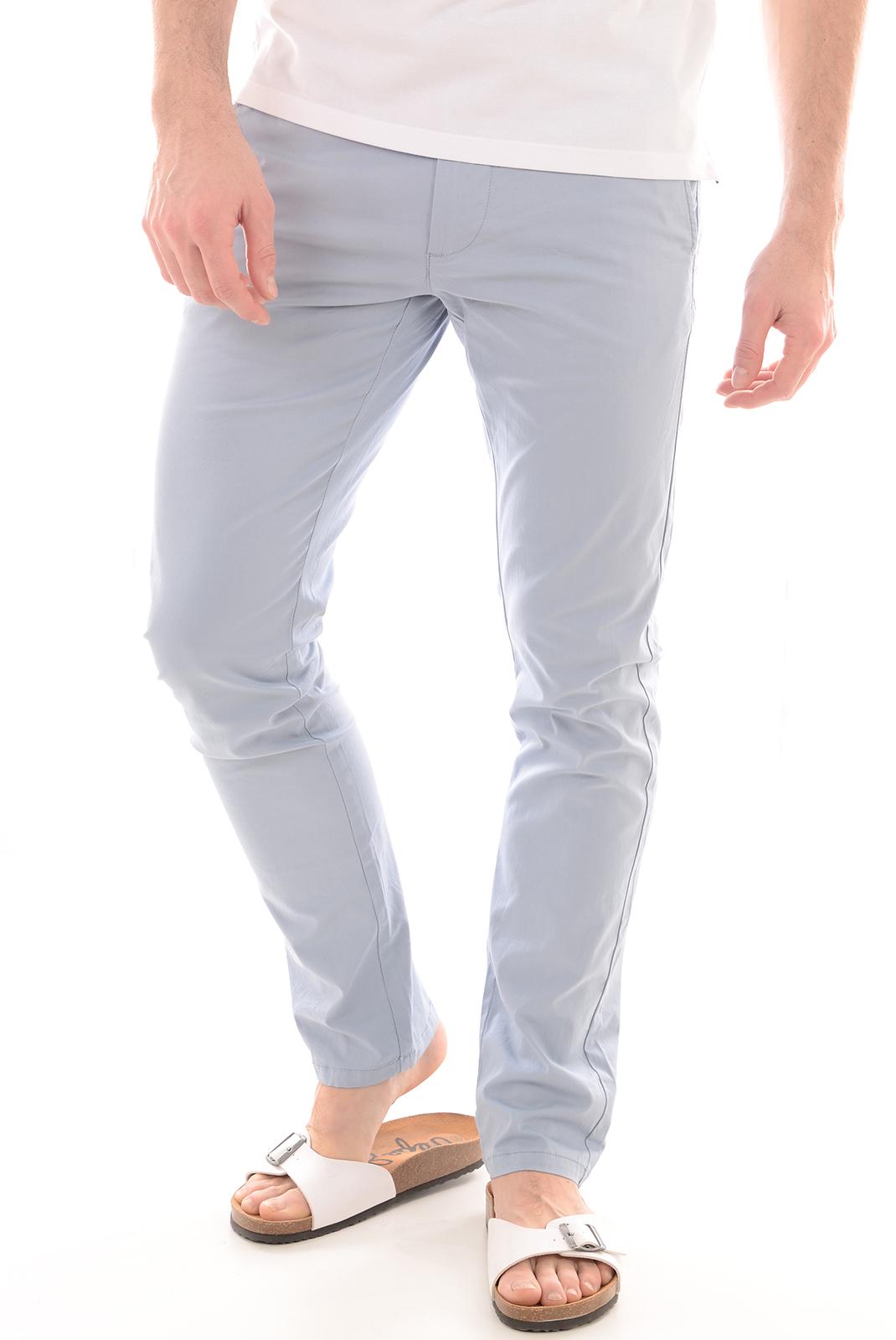 HOMME  Selected YARD SLIM PANTS DUSTY BLUE