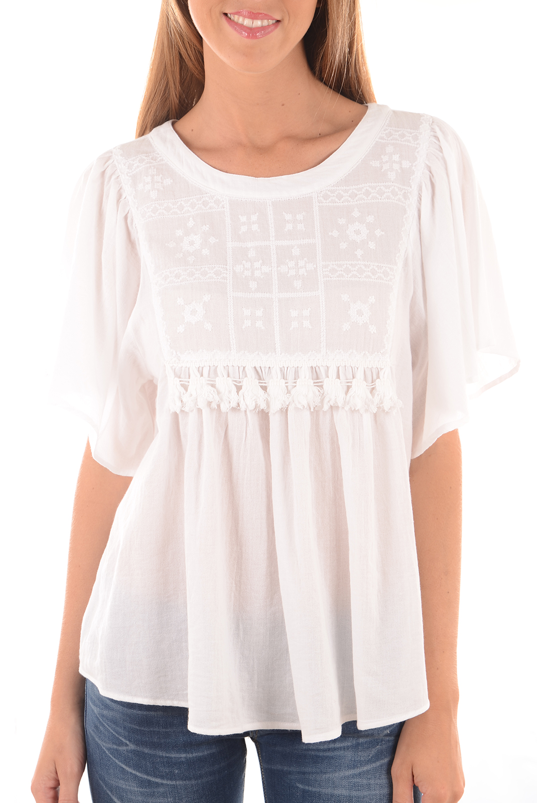 Tops & Tee shirts  Vero moda HUSSA SS TOP SNOW WHITE