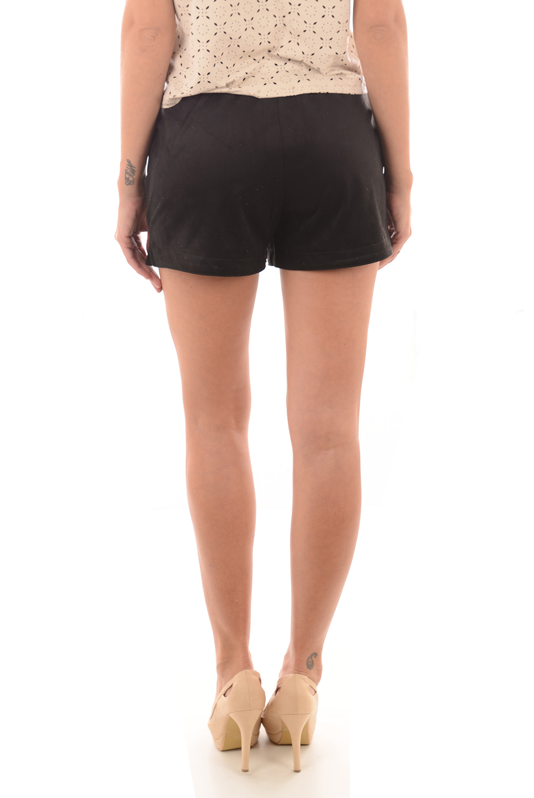 Shorts & Bermudas  Only MELANIE FAUX SUEDE BLACK