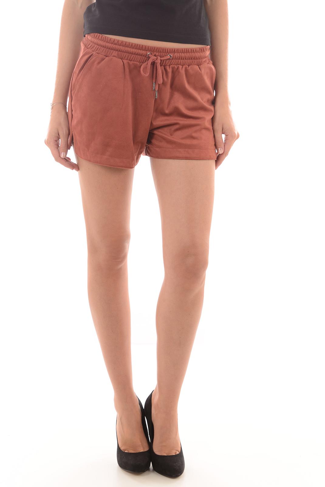 Shorts & Bermudas  Only MELANIE FAUX SUEDE MARSALA