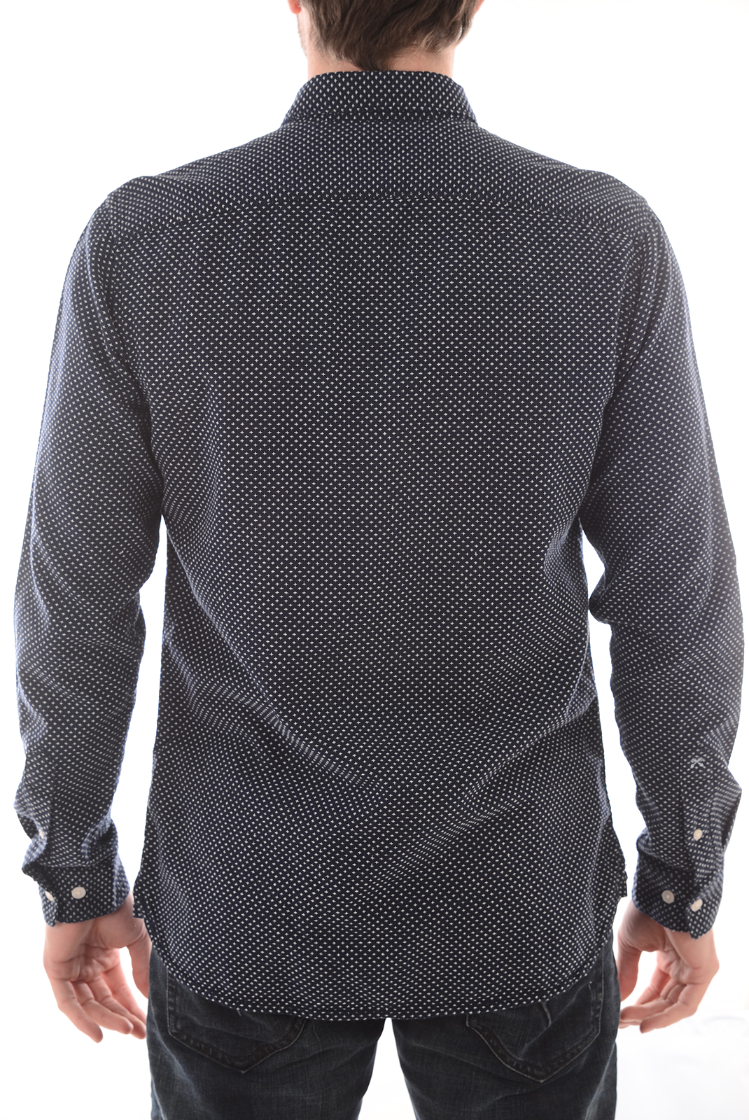 Chemises   Selected HONELUKE SHIRT LS DARK SAPHIRE