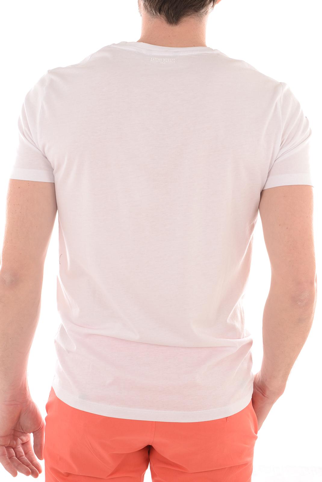 Tee-shirts  Antony morato MMKS00827 100 BLANC