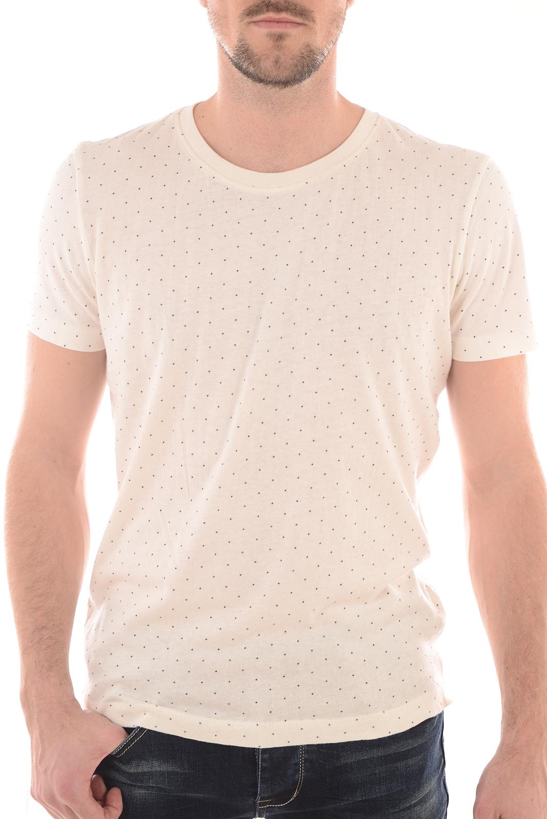 Tee-shirts  Selected LUKE SS O NECK EGRET