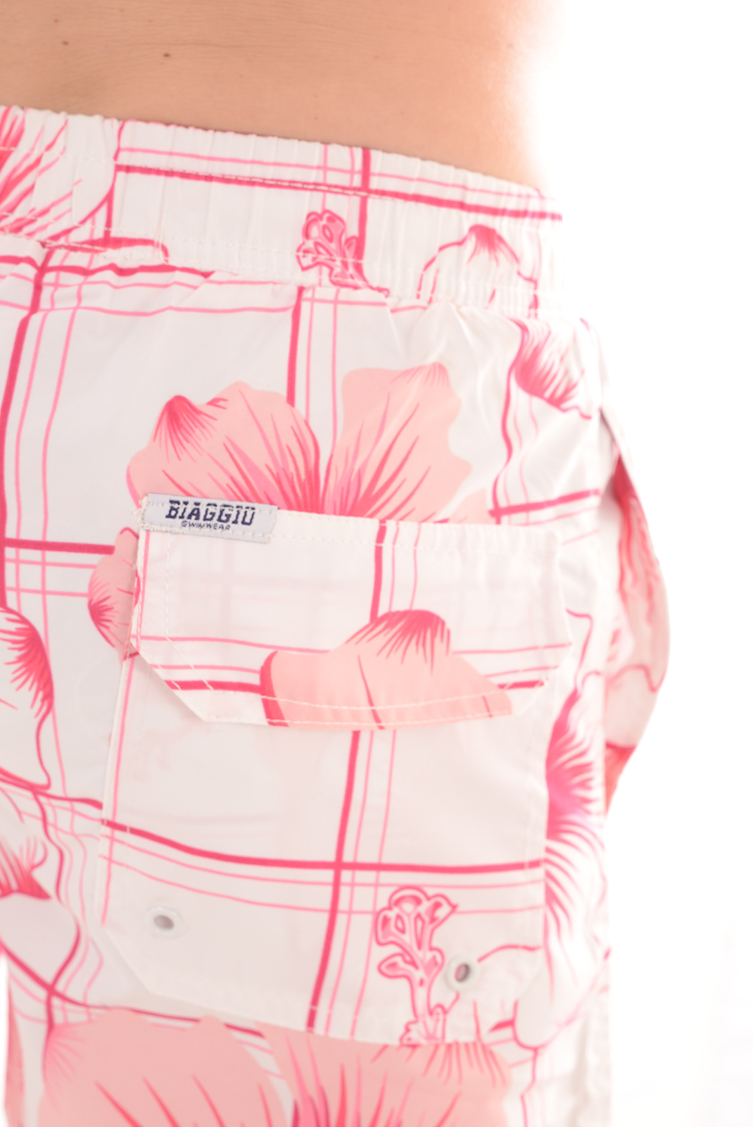 HOMME  Biaggio jeans BAMBOURUS WHITE FUSHIA