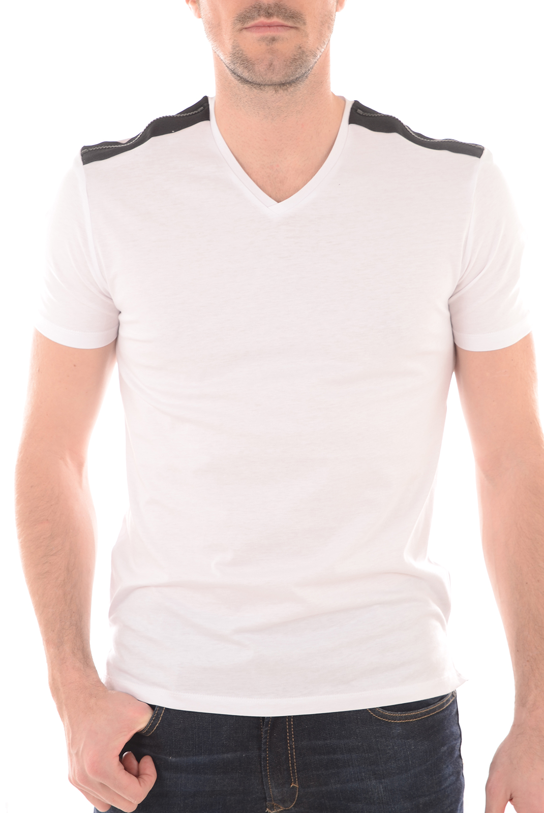 Tee-shirts  Antony morato MMKS00797 1000 BLANC