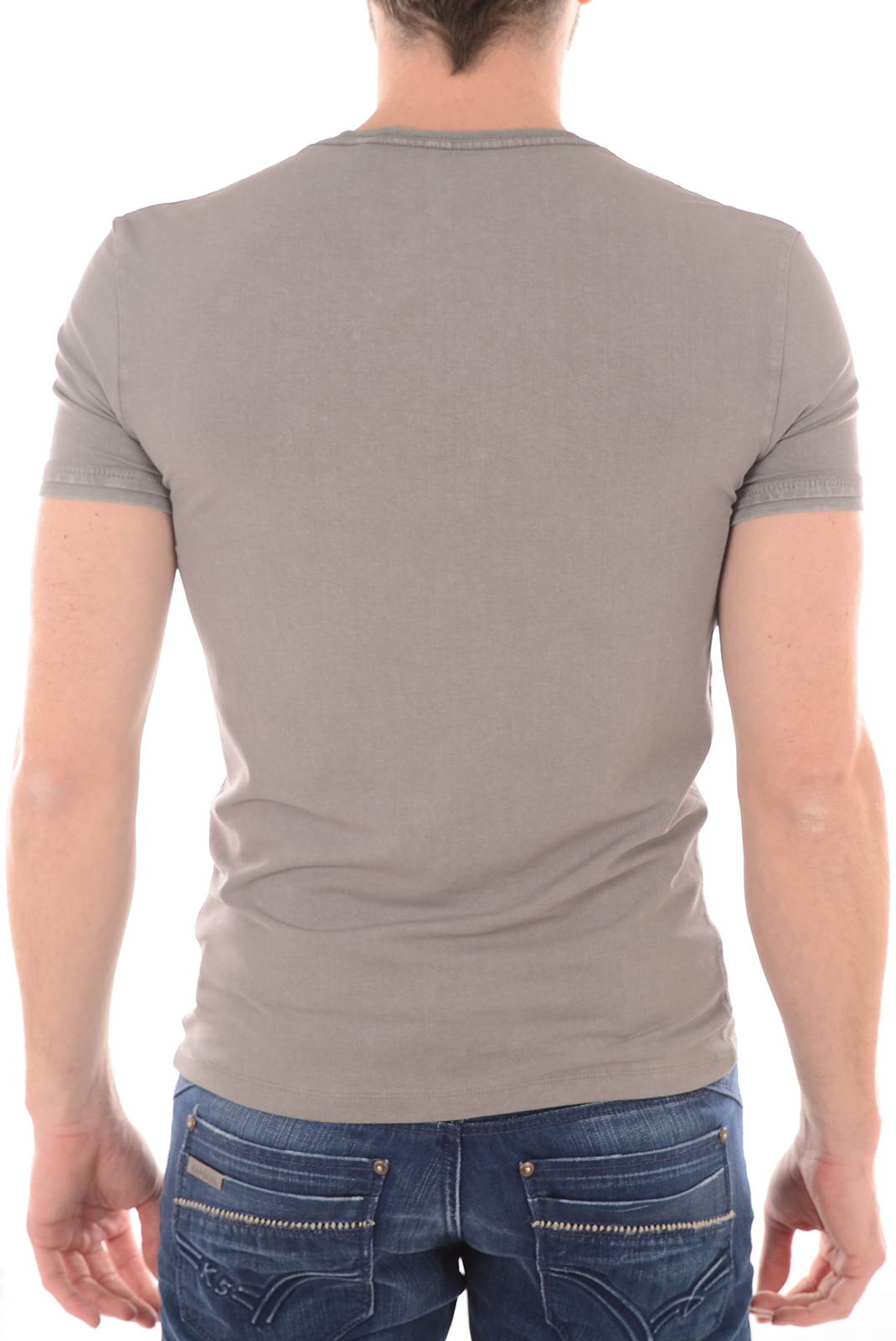 Tee-shirts  Guess jeans M61I04J1311 A947 gris