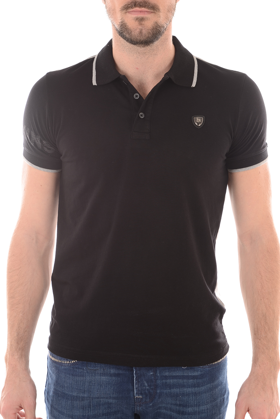 Polos manches courtes  Redskins WRANG WARNER BLACK/GREY/CHINE