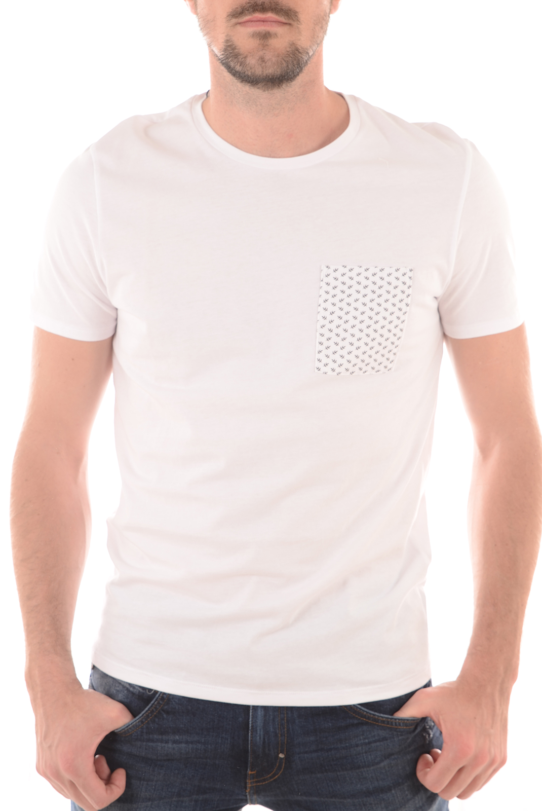 Tee-shirts  Selected SOTAN SS O NECK BRIGHT WHITE