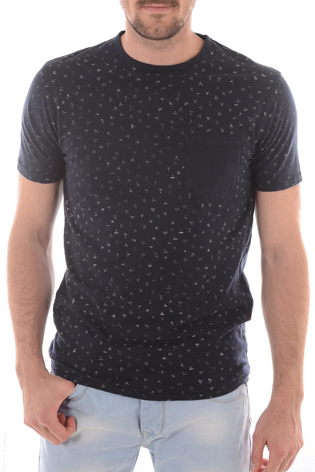 Tee-shirts  Selected JONAS SS TEE DARK SAPPHIRE/PAPYRUS