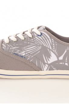 JACK AND JONES: SPIDER CANVAS PALM PRINT SNEAKER
