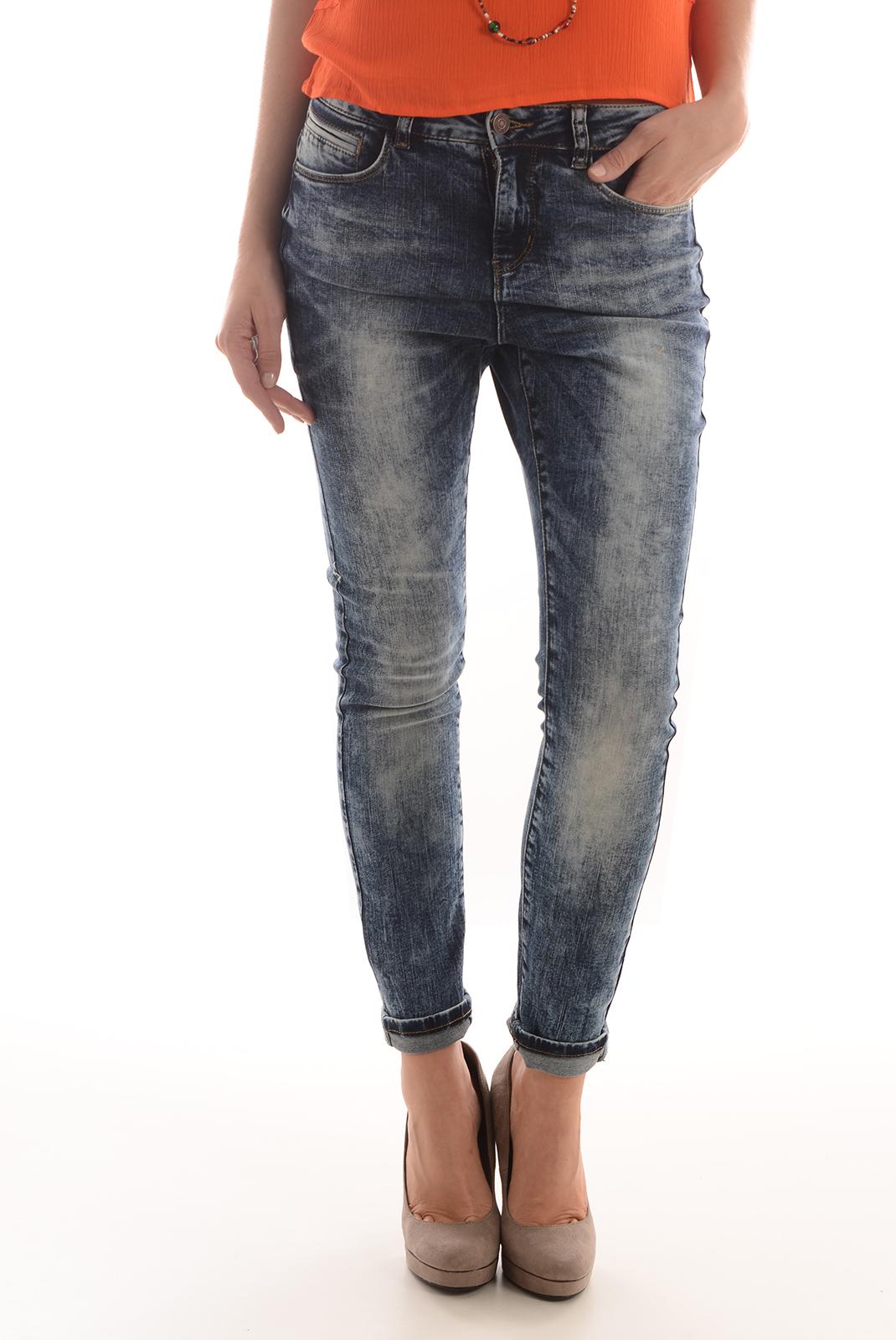 Jeans   Vero moda MAXI LW ANTIFIT DARK BLUE DENIM