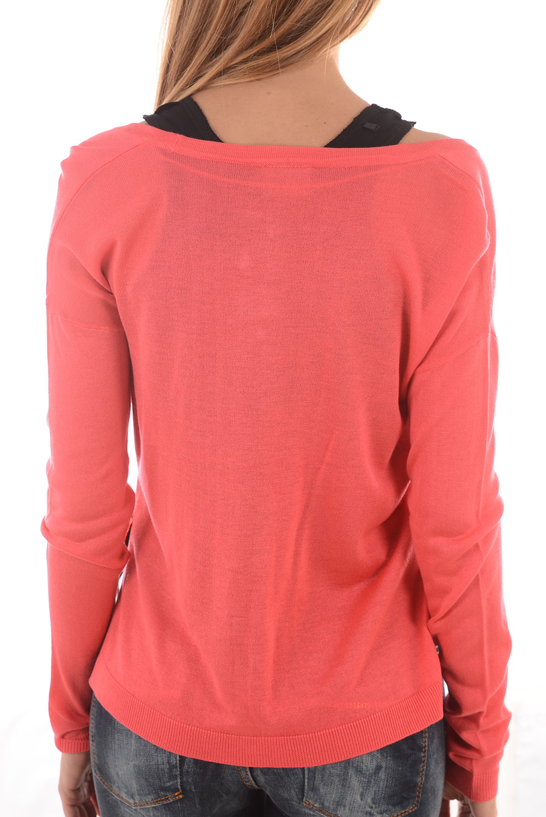 Pulls & gilets  Vero moda SUNSET LS SPLIT ROUGE RED