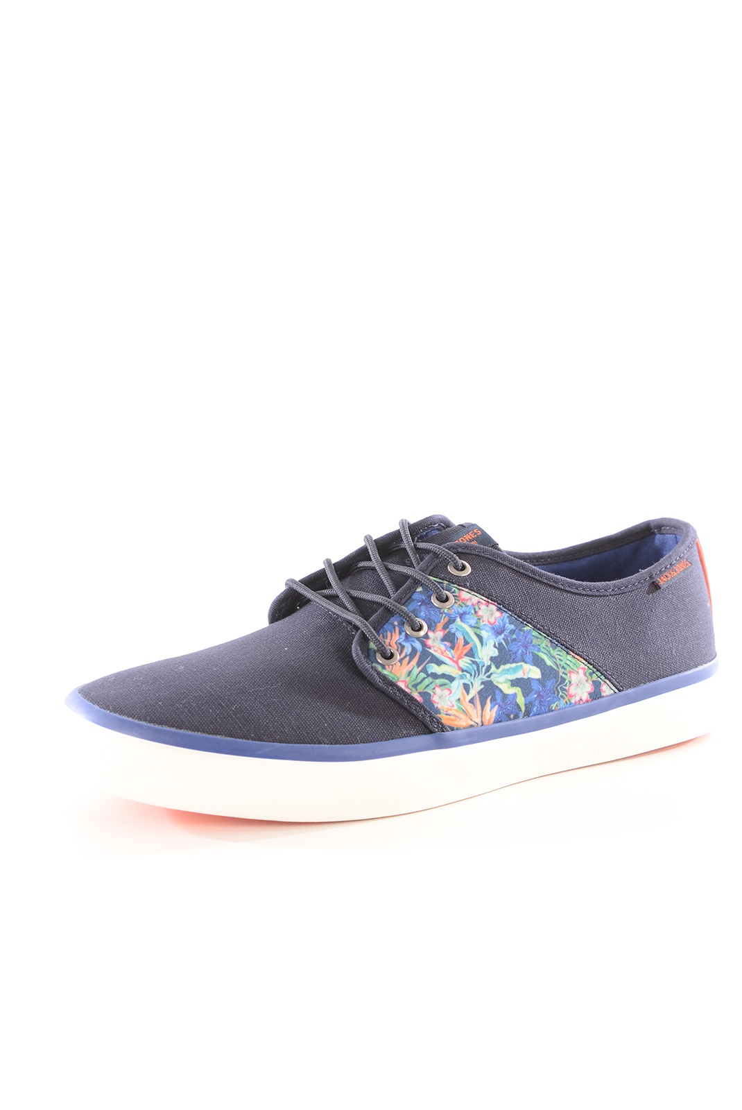 Chaussures   Jack & Jones TURBO CANVAS PRINT SNEAKER NAVY BLAZER