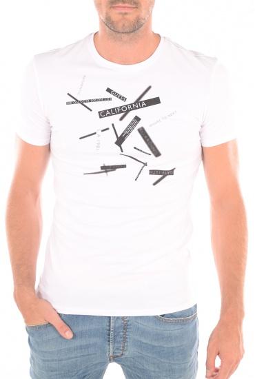 Tee-shirts  GUESS JEANS M62I03J1300 A009 BLANC