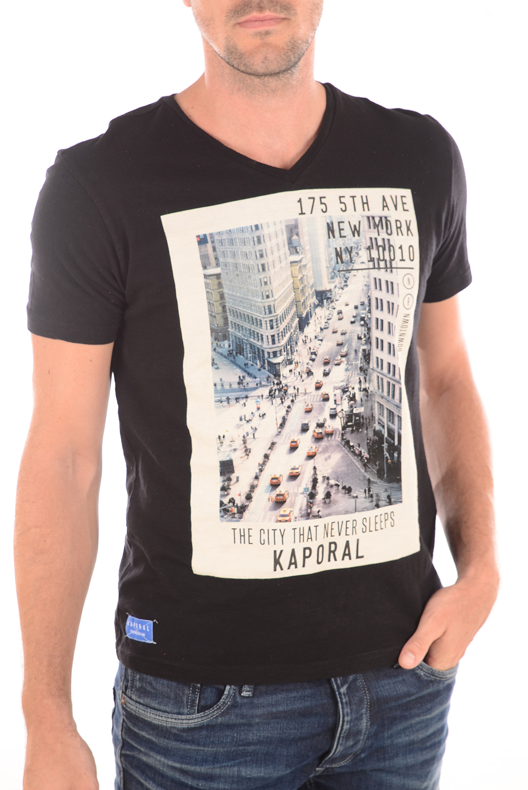 Tee-shirts  Kaporal TULIPE BLACK