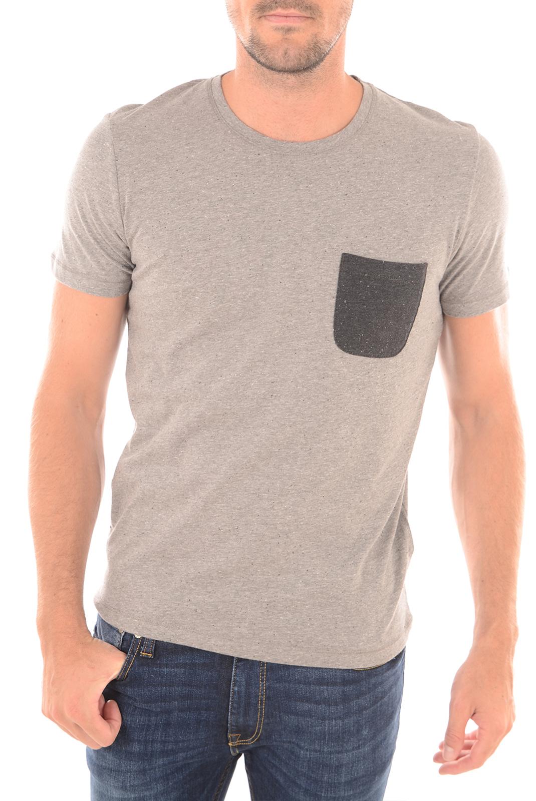 Tee-shirts  Selected INDOE SS LIGHT GREY
