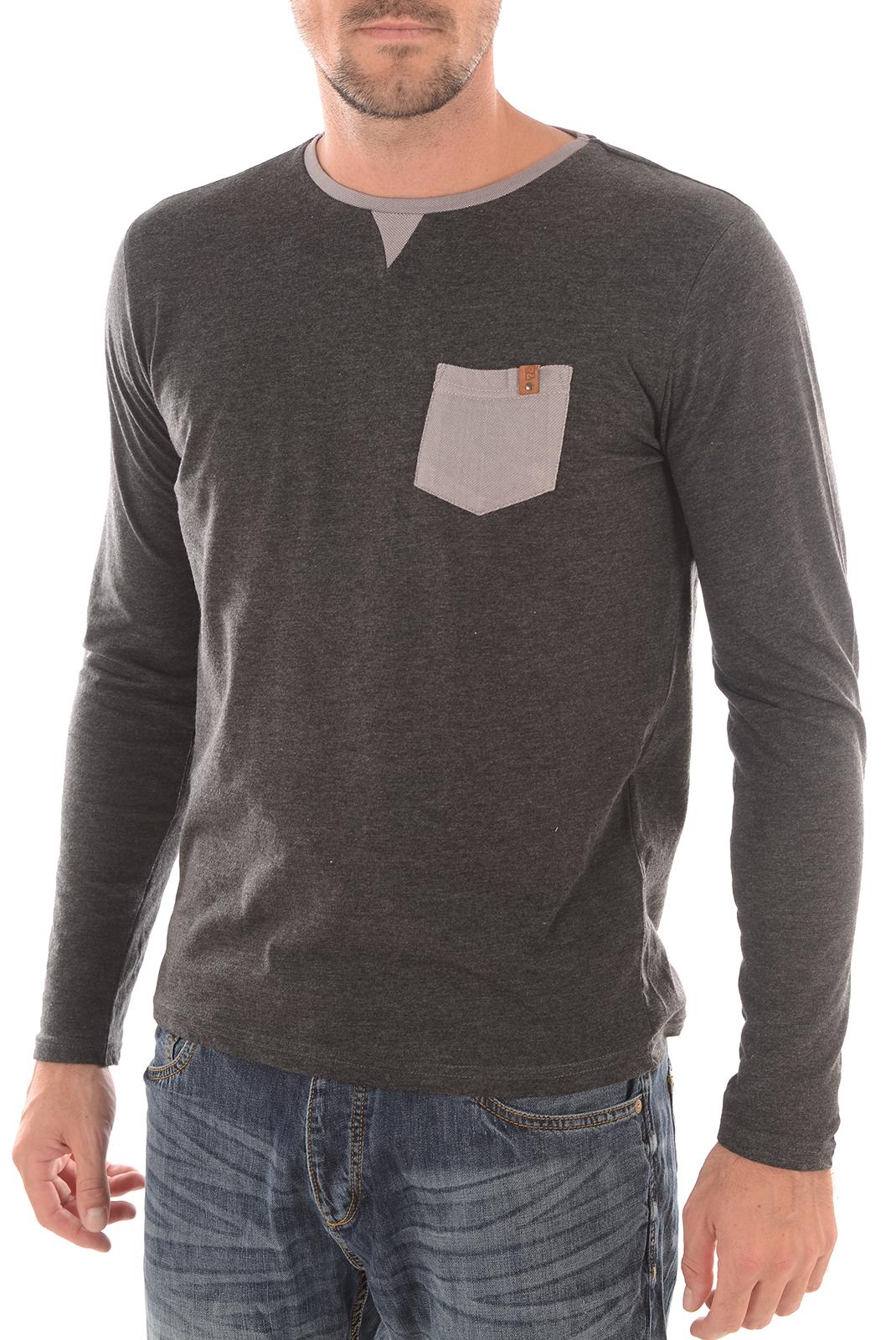 Tee-shirts  Biaggio jeans LADISLA GRIS FONCE